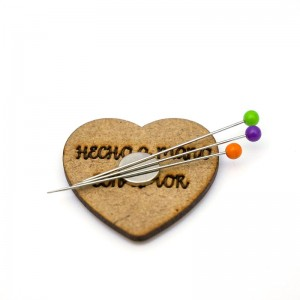 Magnetic Wooden Pincushion - Heart