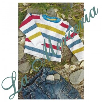 Pattern - Striped Kids Sweater- Free