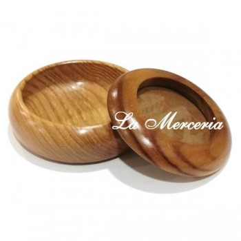 Round Wooden Box - Lid with Glass