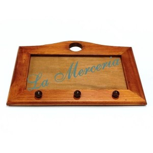 Wooden Hanger with Glass