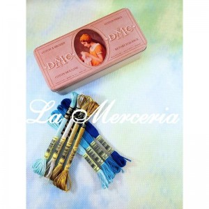 "Kit - Aida ""DMC"" - Printed - 100% Cotton - 5.5 squares / cm. - 14 ct - Color 747"