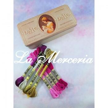 "Kit - Aida ""DMC"" - Printed - 100% Cotton - 5.5 squares / cm. - 14 ct - Color 3609"