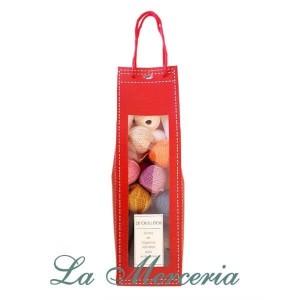 Red Bag with 20 Skeins Amigurumis - Casasol