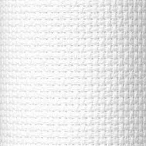Cloth panel - Aida 100% Cotton - White - 1 metre