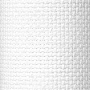 Cloth panel - Aida 100% Cotton - White - 1 metre