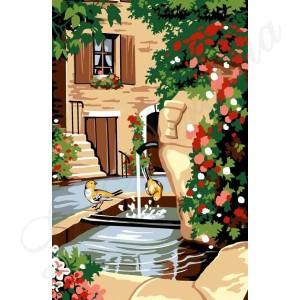 """Seg """"La fontaine"""" - Con hilos y agujas"""
