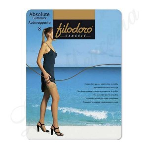 "Stocking Absolute Summer 8 Stay-up - ""Filodoro"""