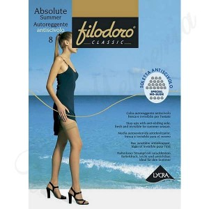 "Stocking Absolute Summer 8 Stay-up and Anti-sliding - ""Filodoro"""