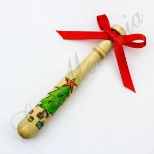 Bolillo Gallego pintado a mano - Navidad - Árbol