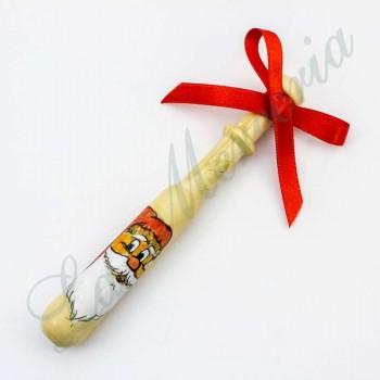 Hand-painted Galician bobbin - Christmas  - Santa Claus