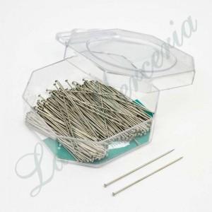 """Alfileres de acero templado largos - """"Presencia"""" - 45 x 0,65 mm. (200 u.)"""