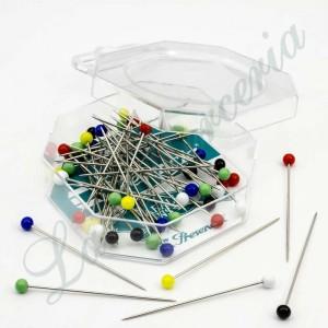 "Alfileres de cristal de colores - ""Presencia"" - 49 x 0,78 mm. (50 u.)"