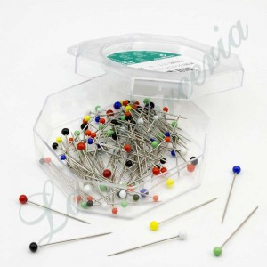 "Glass needles box - Assorted colours - ""Fil d'Or"" - 30 x 0,60 mm. (100 u.)"