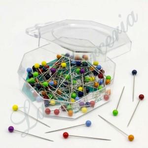 """Alfileres de colores de plástico - """"Presencia"""" - 32 x 0,59 mm. (100 u.)"""