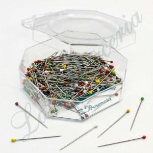 """Alfileres de colores de plástico - Forma pera - """"Presencia"""" - 30 x 0,59 mm. (200 u.)"""